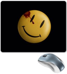 """Коврик для мышки """"Comedian icon"""" - смайл, comics, smile, кровь, смайлик, cinema, улыбка, the watchmen, blood, comedian"""
