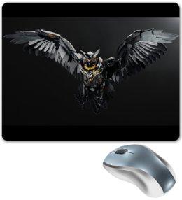 """Коврик для мышки """"Кибер сова"""" - животные, сова, робот, иллюстрация, киборг"""