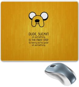 "Коврик для мышки ""Adventure Time - Jake"" - adventure time, jake"