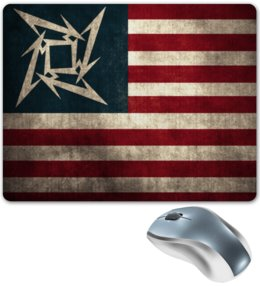 "Коврик для мышки ""«Metallica Flag»"" - коврик для мыши, metallica, металлика, mousepad, metallica flag, флаг металлика"