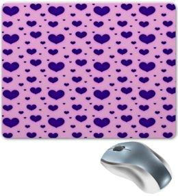 """Коврик для мышки """"Синее сердце"""" - сердце, любовь, день святого валентина, сердечки, я люблю"""