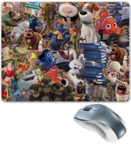 """Коврик для мышки """"Мультфильмы"""" - мультфильм, pixar, тайная жизнь домашних животных, зверополис, в поисках дори"""