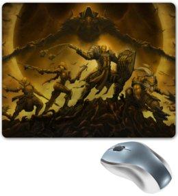 "Коврик для мышки ""Diablo III"" - монах, диабло, крестоносец, близзард, варвар"