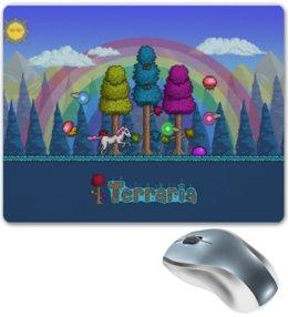 """Коврик для мышки """"Terraria"""" - игры, terraria, про игры, с играми, террария"""