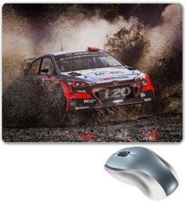 """Коврик для мышки """"Hyundai i20"""" - hyundai i20, хёндай, гоночная машина, racing"""