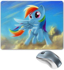 "Коврик для мышки ""Радуга Дэш"" - rainbow dash, my little pony, friendship is magic, радуга дэш"