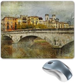 """Коврик для мышки """"Старинный мост в Испании (винтаж)"""" - мост"""