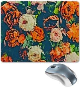 """Коврик для мышки """"Flowers"""" - цветы, узор, весна, цветочки, пионы"""