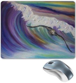 """Коврик для мышки """"Шторм"""" - море, птица, sea, шторм, waves, над волной, before the storm"""