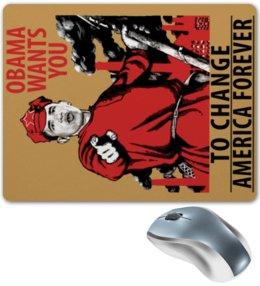 "Коврик для мышки ""Obama Red Army"" - америка, россия, russia, обама, obama"