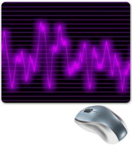 """Коврик для мышки """"Мелодия"""" - музыка, узор, звук, краски, звуковая волна"""