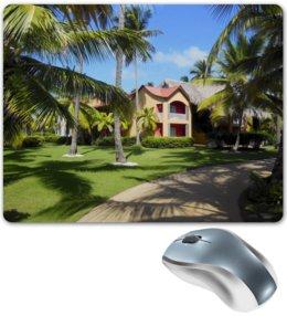 """Коврик для мышки """"""""Доминикана. Тропический сад"""""""" - лето, путешествия, travel, пальмы, доминикана"""
