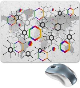 "Коврик для мышки ""Формула"" - узор, текстура, формула, химия, молекулы"