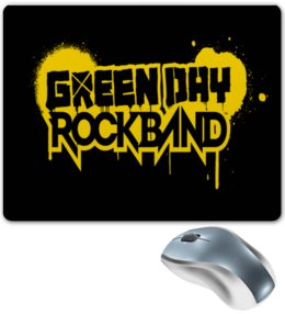 "Коврик для мышки ""GREEN DAY"" - музыка, рок, надписи, группы, green day"