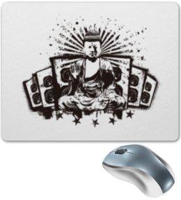 """Коврик для мышки """"Будда (Акустика)"""" - музыка, волны, будда, буддизм, акустика"""