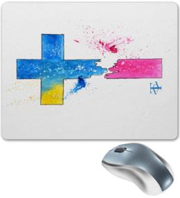 """Коврик для мышки """"Крест"""" - крест, акварель, символ"""