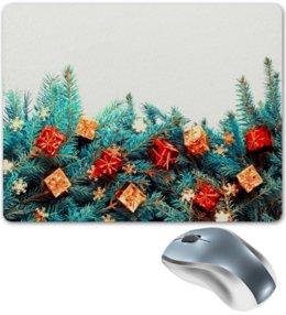 """Коврик для мышки """"Игрушки на елке"""" - праздник, новый год, игрушки, подарки, елка"""