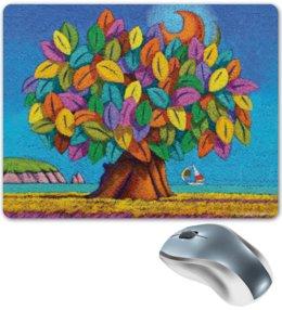 "Коврик для мышки ""Дерево Счастья iCALISTIni"" - счастье, tree, дерево счастья, icalistini"