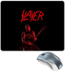 "Коврик для мышки ""Slayer"" - рок, slayer, хэви метал, хардрок, слейер"