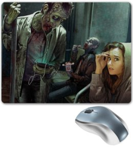 "Коврик для мышки ""Зомби апокалипсис"" - девушка, зомби, апокалипсис, apocalypse"
