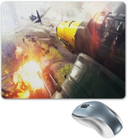 "Коврик для мышки ""Battlefield"" - игры, компьютерные игры, battlefield, бателфилд, battlefield 5"