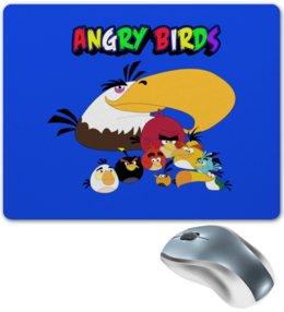 "Коврик для мышки ""Энгри Бердз"" - птицы, птички, мульт, angry birds, энгри бёрдз"