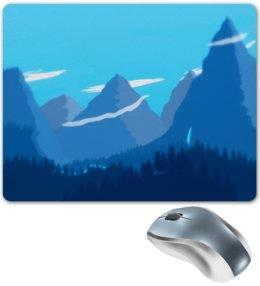 """Коврик для мышки """"Природа"""" - лес, деревья, природа, горы, пейзаж"""