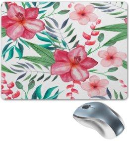 """Коврик для мышки """"Цветы"""" - цветы, листья, лес, природа, тропики"""