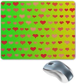 """Коврик для мышки """"Сердечки """" - сердце, любовь, узор, сердечки, день влюбленных"""