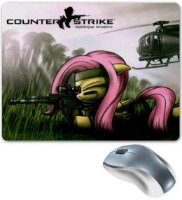 "Коврик для мышки ""mlp cs fluttershy"" - pony, mlp, my little pony, fluttershy, counter strike"