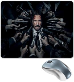 "Коврик для мышки ""Джон Уик"" - актер, боевик, убийца, киану ривз, john wick"