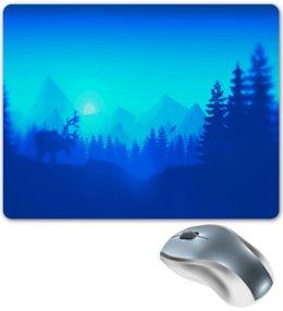 """Коврик для мышки """"Природа леса"""" - животные, лес, деревья, природа, горы"""