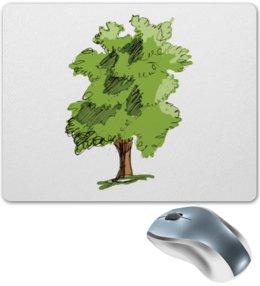 """Коврик для мышки """"Сказочное дерево"""" - рисунок, природа, дерево, иллюстрация, скетч"""
