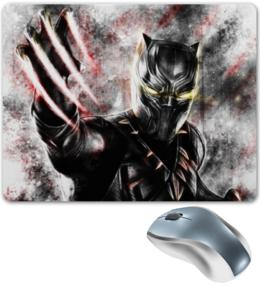 """Коврик для мышки """"Чёрная пантера / Black Panther"""" - рисунок, комиксы, пантера, марвел"""