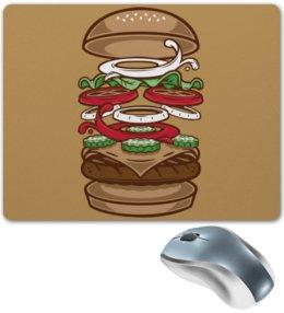 "Коврик для мышки ""BURGER/БУРГЕР"" - арт, еда, бургер, burger"
