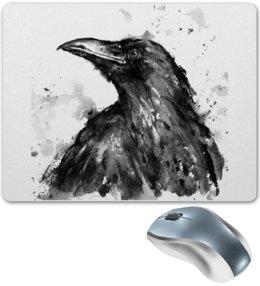 "Коврик для мышки ""Raven Brand"" - ворон, raven, voron"