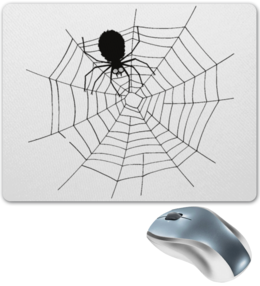 """Коврик для мышки """"Паутина"""" - арт, стильно, паук"""