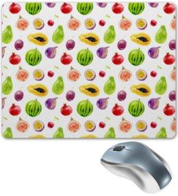 """Коврик для мышки """"Фруктовый"""" - фрукты, вишня, арбуз, манго, авакадо"""