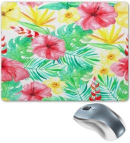"""Коврик для мышки """"Цветы"""" - лето, тропики, природа, summer, цветы"""