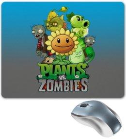 """Коврик для мышки """"Plants vs Zombies"""" - зомби против растений"""