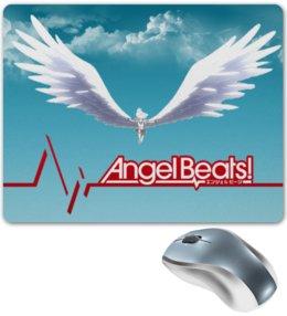 """Коврик для мышки """"Angel Beats! Tachibana Kanade"""" - angel, beats, tachibana kanade, ангельские ритмы, angel beats"""