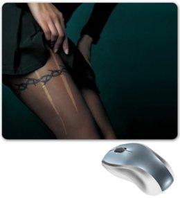 """Коврик для мышки """"Девушка порванные колготки"""" - девушка, эротика, ноги, колготки"""