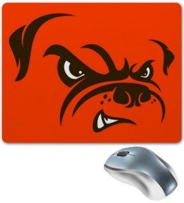 """Коврик для мышки """"Бульдог"""" - юмор, рисунок, бульдог, злая собака"""