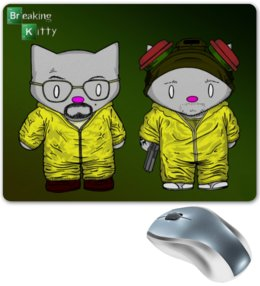 "Коврик для мышки ""Breaking Kitty/Во все тяжкие"" - hello kitty, во все тяжкие, breaking bad, heisenberg, хелло китти"