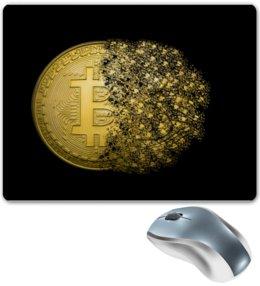 """Коврик для мышки """"Биткойн"""" - биткойн, криптовалюта, bitcoin, cryptocurrency"""