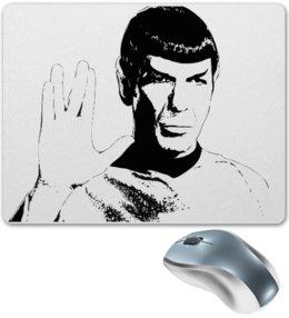 """Коврик для мышки """"Мистер Спок и сериала Stsr Trek TOS LLAP"""" - star trek, спок, spock, llap"""