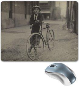 """Коврик для мышки """"Парень на велосипеде"""" - ретро, велосипед"""