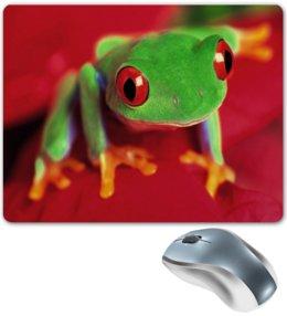 """Коврик для мышки """"Лягушонок"""" - лягушка, жаба, природа, животные, пейзаж"""