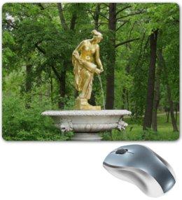 """Коврик для мышки """"Нимфа"""" - россия, парк, скульптура, нимфа, петергоф"""