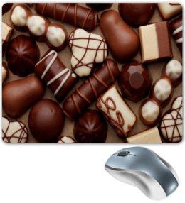 """Коврик для мышки """"Шоколад"""" - конфеты, еда, сладости, шоколад, коричневый"""